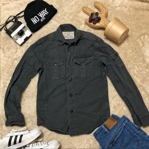 Black Long Sleeve Button Up Shirt